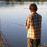 Fishing at Van Eyck dam