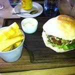 Beef burger at Mole & Chicken