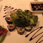vegetarian Sushi at main restaurant