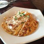 Fettucini with chicken and vodka sauce