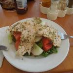 v nice chicken salad at hotel