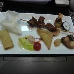 mon assiette entrée repas japonnais