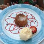 White chocolate soufflé. As delicious as it looks