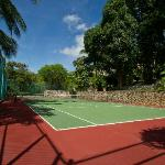 Tennis court with ligthing