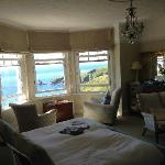 A lovely room and just look at the view outside!