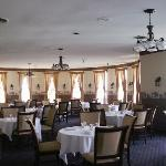 The dining room is nicely appointed and features a full menu from steaks to Lake Superior whitef