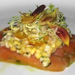 Smoked Salmon with corn salsa
