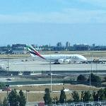 Another airport view from the room  and  an unexpected sighting of an A380