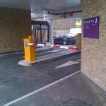 Entrance to car park