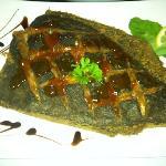 flounder w/apricot glaze