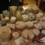 various local cheese selections