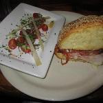 Muffaletta with Tomato Salad