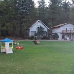 The Blue Spruce Chalet and some of the toddler toys.
