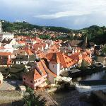 Historic Cesky Krumlov from the Castle