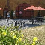 Patio at the winery where lunch was served
