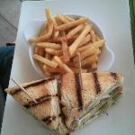 Club sandwich classic restaurant de plage