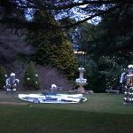 Grounds Decorations for Christmas In July at Fountaindale