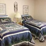 MountainView Bed Room showing 2 twin beds. Can also be converted to King bed - view 1