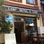 The outside of the Lamp Hotel