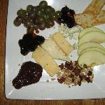 Fruit, cheese, and nuts as an appetizer or dessert