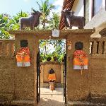 Welcome gate of the accommodation