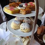 sandwiches, scones and pastries