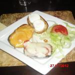 three cheese garlic bread starter