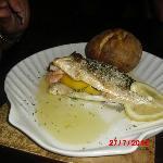 sea bass stuffed with prawns