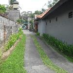 laneway from the villa to the main street, so well maintained