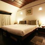 My room on Pamba. It is beautiful! I LOVE DARK WOOD + WHITE. Love it. Bed was firm and I loved i