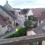 Vue depuis les chambres côté du village.