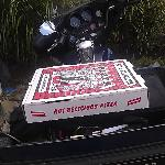 "Pizza ""delivery"" from Corinth to home!"