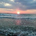 a sunrise on the beach
