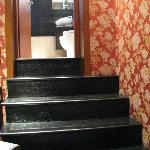 Stairs into Bathroom