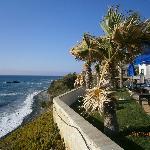 vista spiaggia e giardino
