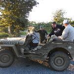 Jeep Willys qui sert à la découverte de la région