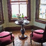 Alcove in the Victorian room that overlooks the river