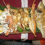 The smaller one of the two seafood platters on offer- amazing!