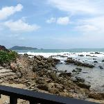 View from restaurant, low tide