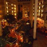 Hotel interior at night