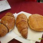 cruasanes del desayuno