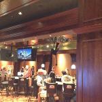 aerial artist in casino
