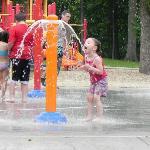 kids having fun at the splash pad