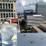 Sapphire and tonic @ rooftop bar