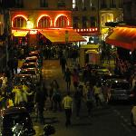 View from our room toward Rue du Seine at 1:30 am--very lively neighborhood!