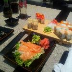 simple set and sashimi
