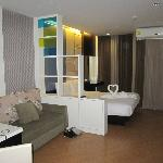 super deluxe room with sofa