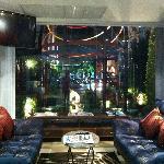 Hotel lobby resting area