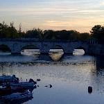 Il Ponte di Tiberio al tramonto