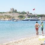 Bodrum beach and view of the castle